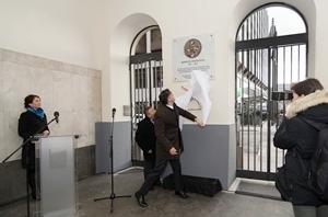 Kossuth Zsuzsanna emléktáblájának avatása 2018.02.15. Bp. V. kerület